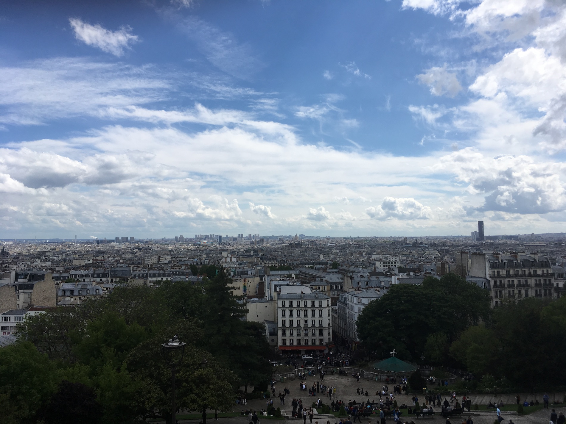 The city of paris from a raised position, photo by Hoverbear
